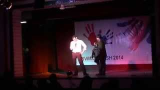 Gambar cover Host Nikhil Akki can't stop himself from shaking a leg or two at SVIMS SPARSH