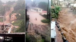 Churning rivers of mud sweep through Freetown, Sierra Leone