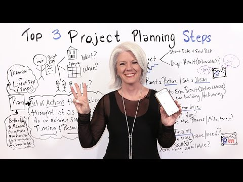 Top 3 Project Planning Steps - Project Management Training