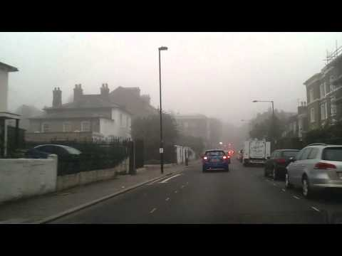 Driving in London [ Fog ] - Herne Hill to Brixton