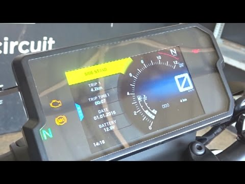 KTM Duke 390 2017 TFT Panel Features Explained