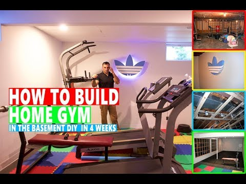HOW TO BUILD HOME GYM IN THE BASEMENT DIY IN 4 WEEKS
