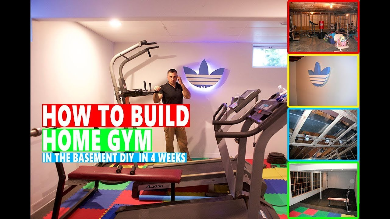How To Build Home Gym In The Basement Diy In 4 Weeks Youtube