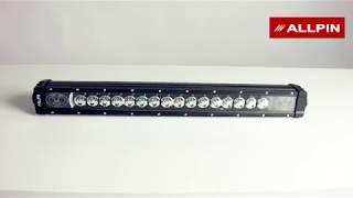 Светодиодная балка-фара Allpin 80 Вт с янтарной подсветкой