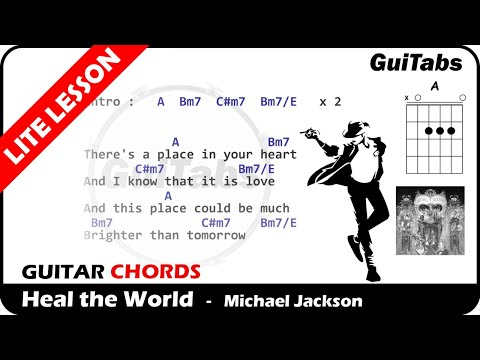 Heal The World 🌏 - Michael Jackson ( Lyrics And GuiTar Chords ) 🎸