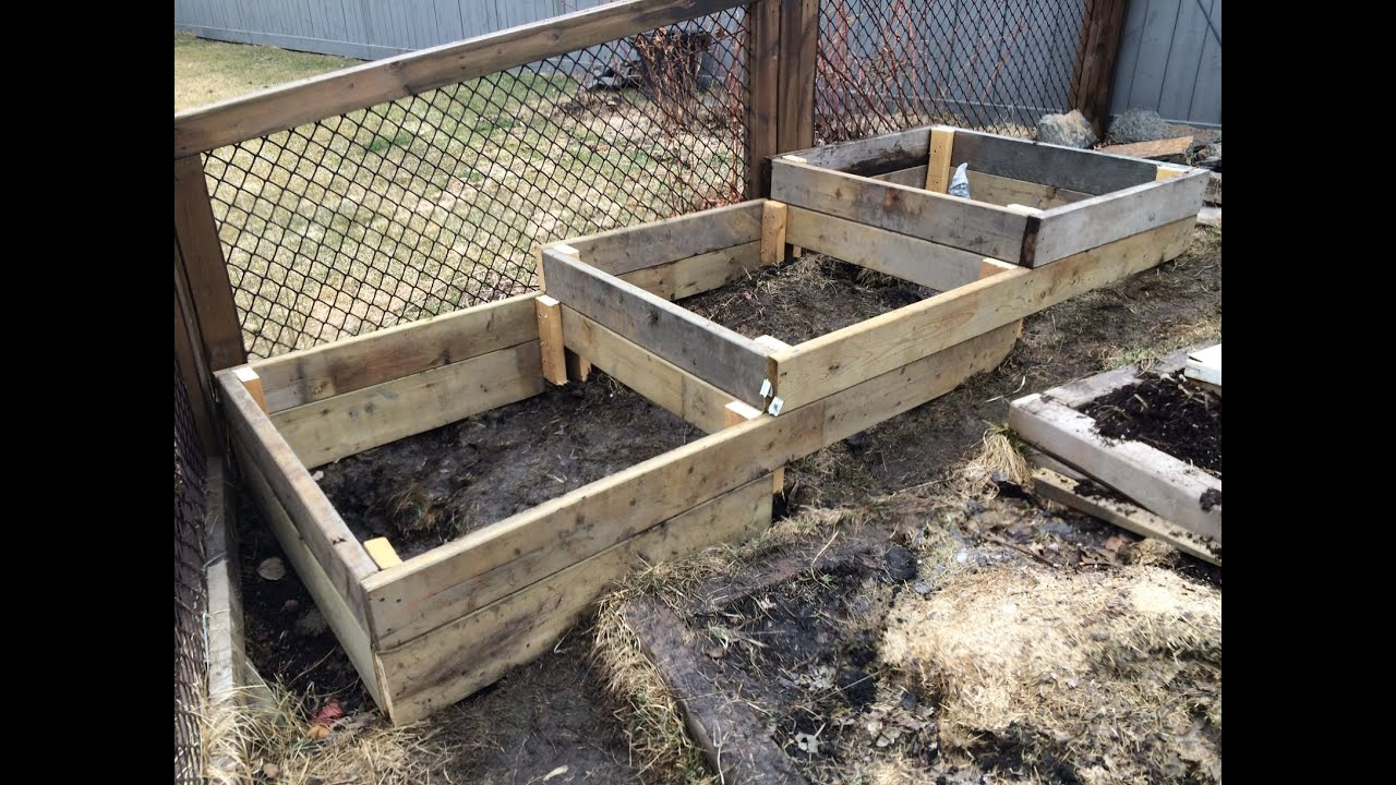 How To Build Raised Garden Beds On A Slope Or Hillside Easy Simple And Free Or Cheap Youtube