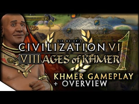 Khmer Gameplay, YnAMP Terra Map & 8 AGES OF PACE | Civilization VI — 8 Ages of Khmer | Terra Emperor
