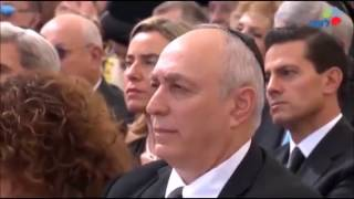 Netanyahu gives speech at funeral of Shimon Peres