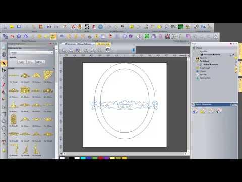 Artcam Dersi Rolyef Duzenleyerek Ayna Cercevesi Olusturma Youtube