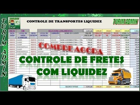 236ae25783 PLANILHA DE CONTROLE DE FRETES POR RECEITAS, DESPESAS E LIQUIDEZ R$ 30,00
