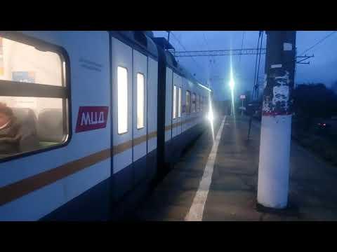 Электропоезд ЭП2Д-0028 ЦППК платформа Орудьево 08.12.2019
