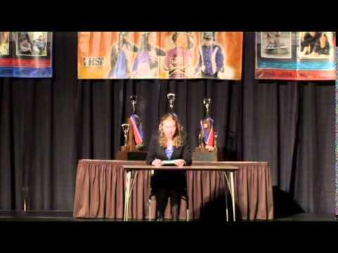 IHSA 2014 State Champion Radio Speaking