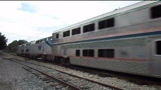 Amtrak Auto Train On The Heels Of CSX Intermodal Train