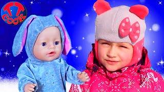ВЛОГ Ярослава и Кукла Беби Бон На Горке! Катаемся с Большой Снежной Горки Видео для детей