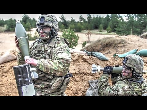 Army Troops Fire Anti-tank Missile and Mortars