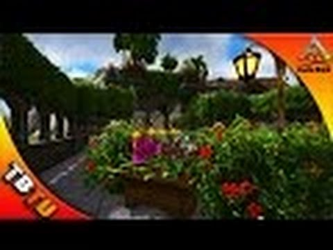 THE HANGING GARDEN! ECOS GARDEN DECOR! ARK Survival Evolved Castle Build