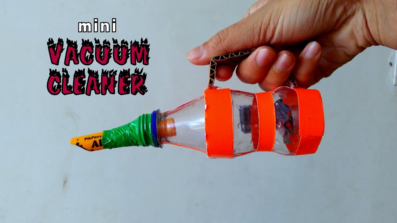 How To Make Mini Vacuum Cleaner