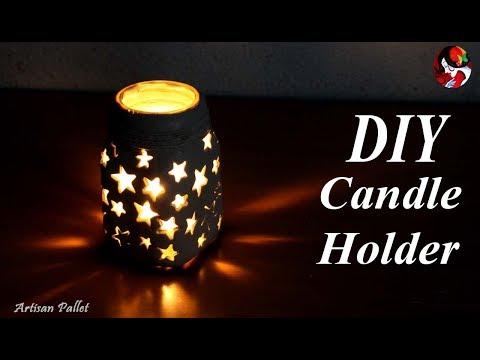 HOW TO make DIY Candle Stand   Diya stand   DIY Bottle Lights   Diwali Craft idea