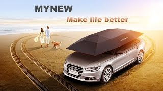 2016 original manufacture Mynew Car sun shade semi automatic car umbrella