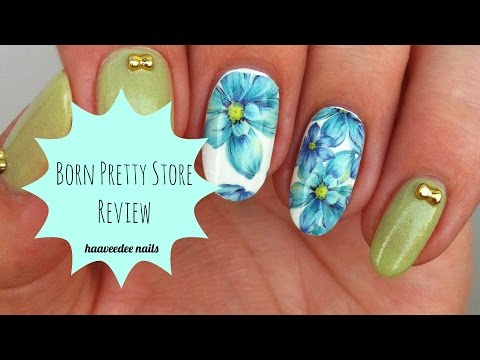Born Pretty Store Review + Design (water Decals, Rhinestones And Nail Polish)