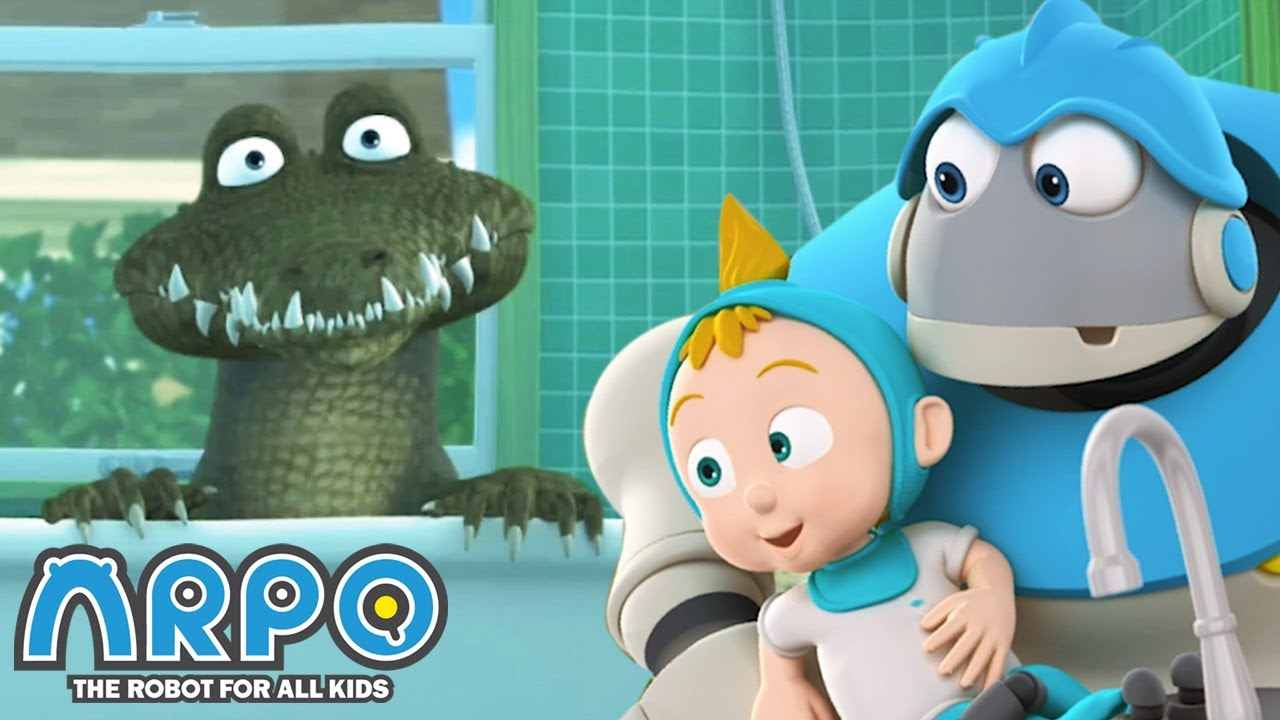 Crocodile in the HOUSE! - ARPO the Robot | 에피소드를보고 | Cartoons for Kids | Robot Animation