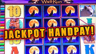 $40 BETS ON WOLF RUN ★ JACKPOT HAND PAY ➜ HIGH LIMIT LIVE SLOT PLAY