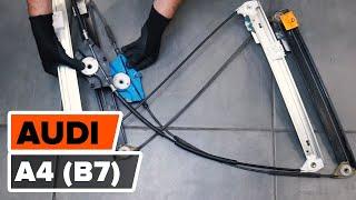 Hur och när byter man Vindrutetorkarmotor fram och bak AUDI A4 (8EC, B7): videohandledning