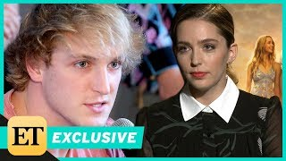 Logan Paul's Co-Star Jessica Rothe Reacts to His 'Suicide Forest' Video (Exclusive)