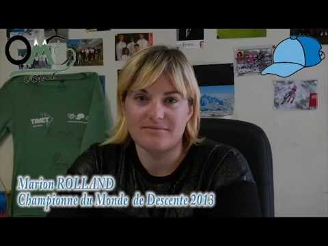 Interview Marion Rolland Championne du Monde de Descente