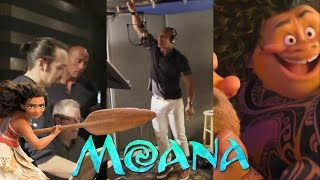 Lin-Manuel Miranda  Dwayne The Rock Johnson making of the song Youre Welcome - Moana