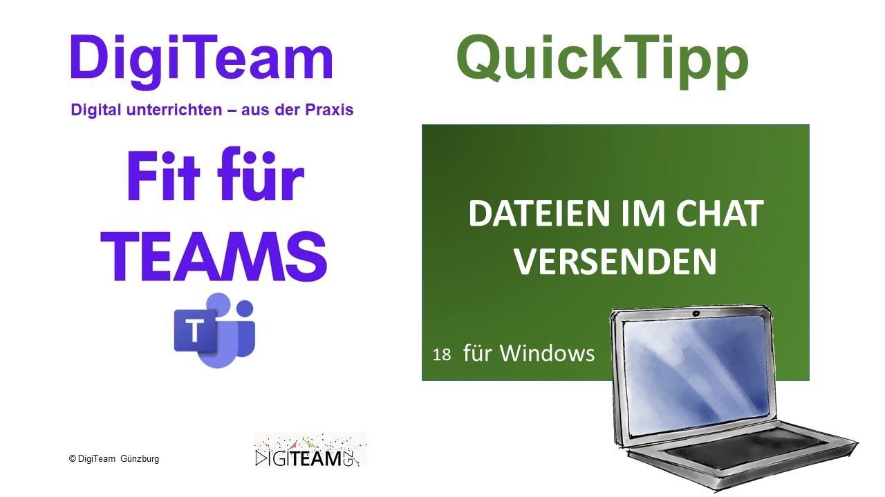 18 Microsoft Teams - Dateien im Chat versenden (Windows