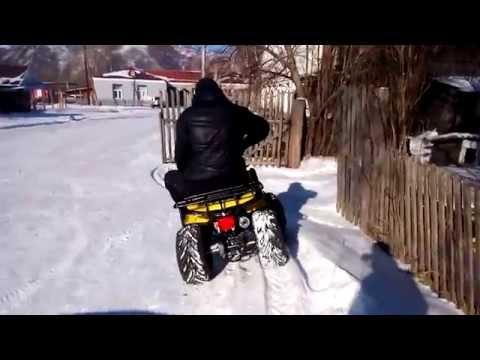 Квадроцикл IRBIS ATV 110U. Без ЦЕПЕЙ. Зимний Дрифт.