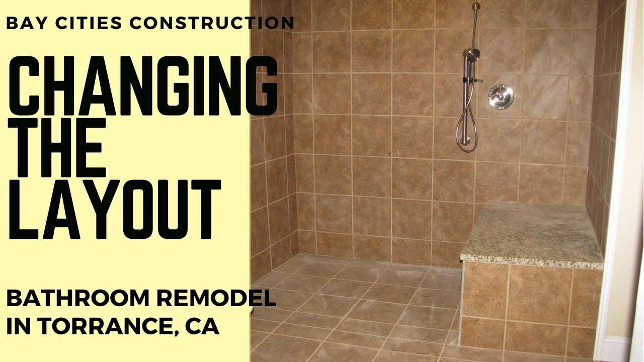 Changing The Layout Bathroom Remodel In Torrance CA YouTube - Bathroom remodel torrance ca