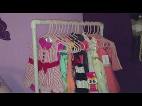 DIY Baby Clothing Rack Under $5 - YouTube