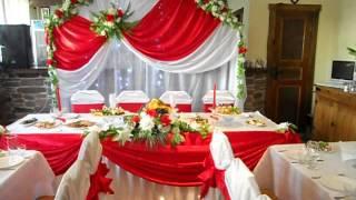 Оформление свадьбы в красном цвете, Минск