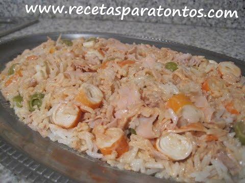 Ensalada de arroz con salsa rosa youtube - Ensalada de arroz con atun ...