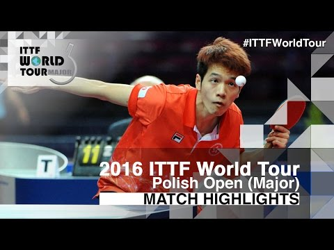 2016 Polish Open Highlights: Ho Kwan Kit vs Alexandre Robinot (U21-1/4)