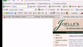 Salon Marketing - How To Get Your Salon Website on the First Page of Google