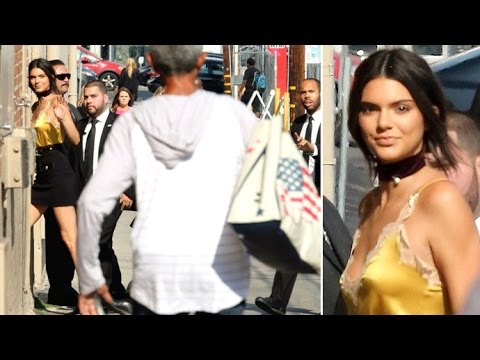 Crazed Fan Runs Towards Kendall Jenner As She Arrives At Jimmy Kimmel