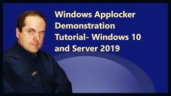 Windows Applocker Demonstration Tutorial- Windows 10 and Server 2019