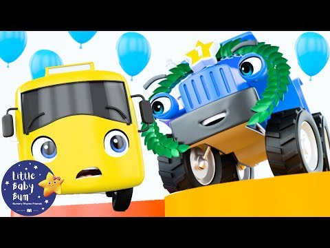 Cantec nou: Go Buster | Racing Buster | BRAND NEW! | Baby Songs | Kids Cartoon | Little Baby Bum
