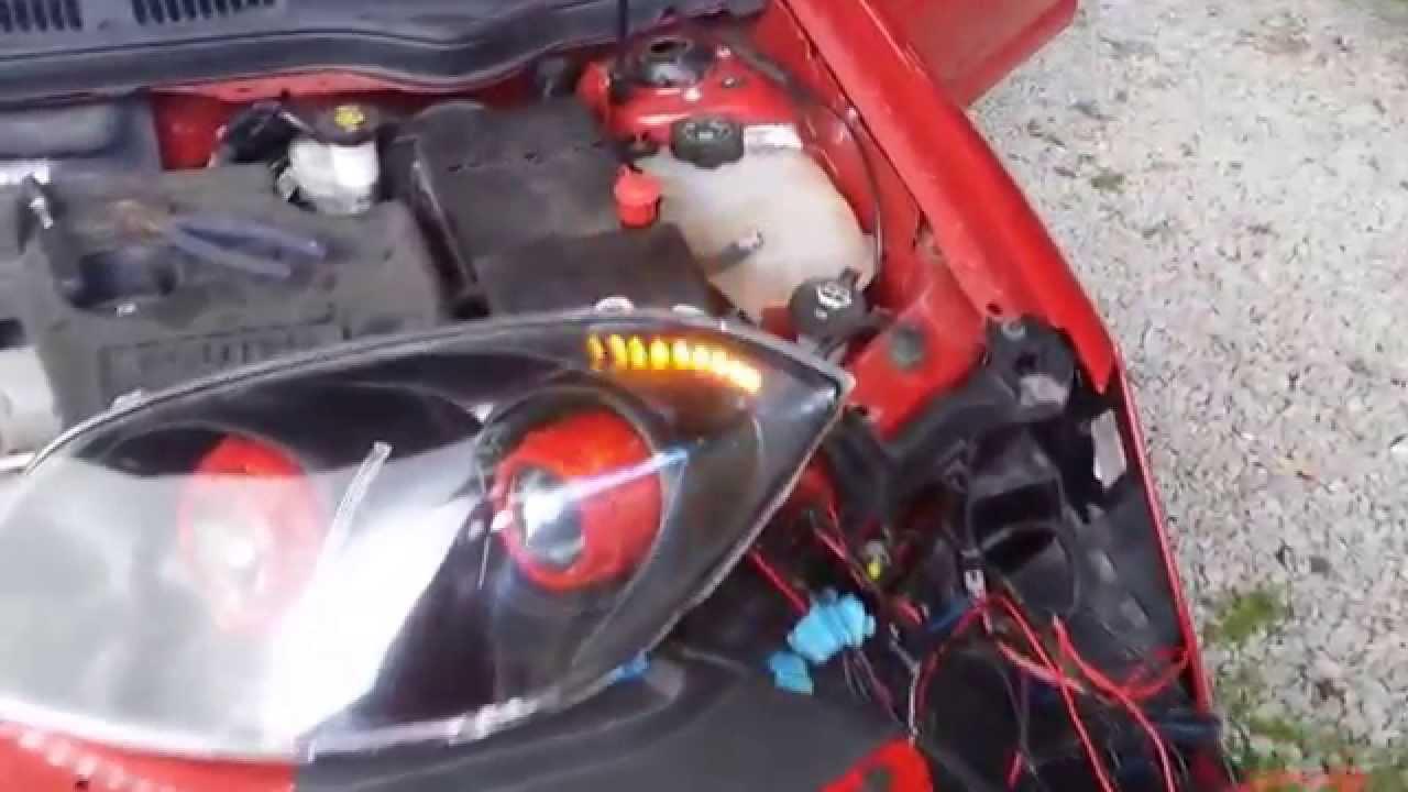 Pontiac G5 Sequential turn signal retrofit headlights