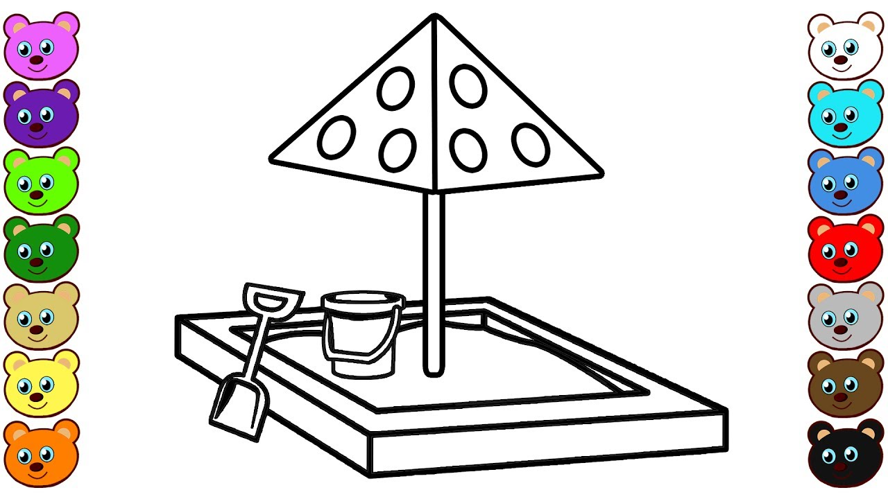 Sandbox Coloring Pages YouTube