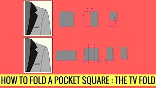 HOW TO FOLD A POCKET SQUARE - TV FOLD