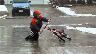 Riding A Bike on Ice
