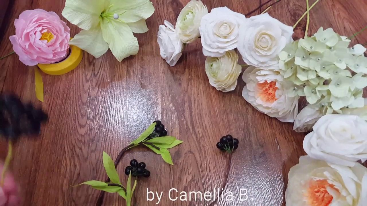Diy how to make a paper flower bouquet from crepe paper youtube diy how to make a paper flower bouquet from crepe paper izmirmasajfo