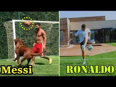 Messi VS Ronaldo ⚽Insane Skills At PRIVATE HOME During Holidays 🏠 Instagram Skills