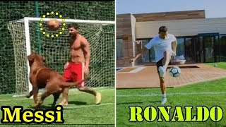 Download Messi VS Ronaldo ⚽  Insane Skills At PRIVATE HOME During Holidays 🏠 Instagram Skills Mp3 and Videos