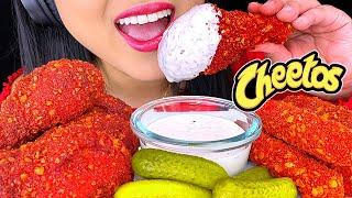 ASMR HOT CHEETOS Fried Chicken and Mozzarella Sticks (NO TALKING) Crunchy Eating Sounds