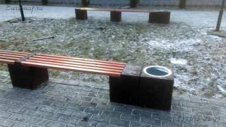Уличная скамейка